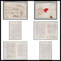 LAC Lettre Cover France 2107 Haute-Vienne Marque Postale 27x8.5 Indice 4 Limoges Pour Paris 21/9/1806 - Marcofilia (sobres)