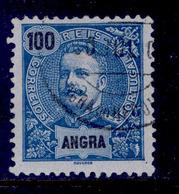 ! ! Angra - 1897 D. Carlos 100 R - Af. 22 - Used - Angra
