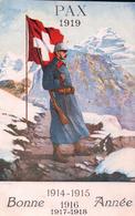 Armée Suisse Aux Frontières, Bonne Année (1918) - Guerre 1914-18