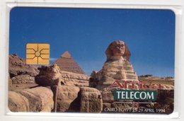 EGYPTE SPHINX, AFRICA TELECOM, MONETEL GEMPUS DEMO CARD 100 Units, Tirage 2000, 04/94, Mint - Egypt