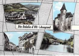 12 - STE ELALIE D'OLT : Jolie Multivues Village ( 380 Habitants) CPSM Dentelée Colorisée Grand Format 1975 - Aveyron - France