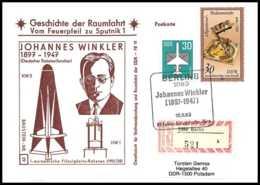 9050/ Espace (space) Lettre (cover Briefe) 18/6/1983 Winkler Geschichte Der Spoutnik Allemagne (germany DDR) - Covers & Documents