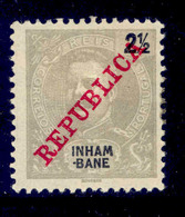 ! ! Inhambane - 1911 D. Carlos 2 1/2 R - Af. 32 - MH - Inhambane
