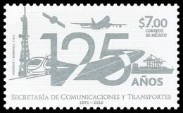 2016 MÉXICO Secretaría De Comunicaciones Y Transportes MNH COMUNICATIONS AND TRANSPORTATIONS, CONTROL TOWER, TRAIN - Messico