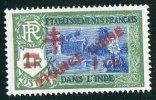 INDE Surcharge «Croix De Lorraine Et FRANCE LIBRE»  1 Ca Sur 1R Maury  248 * Charnière Légère - Indien (1892-1954)