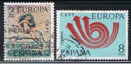 (2E 442) ESPAÑA // YVERT 1779, 1780  // EDIFIL   2125, 2126 //  1973 - 1971-80 Oblitérés