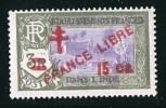 INDE ßurcharge «Croix De Lorraine Et FRANCE LIBRE» 15 Ca Sur 3R  Maury  254 ** - India (1892-1954)