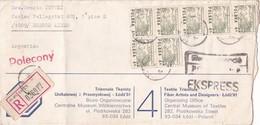 1981 COMMERCIAL COVER: TRIENNALE TKANINY. CIRCULEE TO BUENOS AIRES. RECOMANDE. TIMBRES UNIESM EXPRESSO - BLEUP - 1944-.... République
