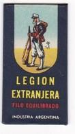 LEGION EXTRANGERA, INDUSTRIA ARGENTINA. RAZOR BLADE LAME DE RAISOR HOJA DE AFEITAR. CIRCA 1930s - BLEUP - Lames De Rasoir