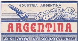 ARGENTINA REVISADA AL MICROSCOPIO. RAZOR BLADE LAME DE RAISOR HOJA DE AFEITAR. CIRCA 1930s - BLEUP - Lames De Rasoir