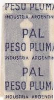 PESO PLUMA. INDUSTRIA ARGENTINA. RAZOR BLADE LAME DE RAISOR HOJA DE AFEITAR. CIRCA 1930s - BLEUP - Lames De Rasoir