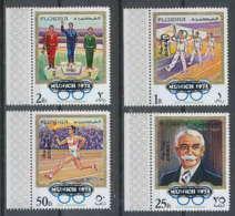 051a - Fujeira - MNH ** Mi N° 533 / 536 A Jeux Olympiques (olympic Games OVERPRINT MUNICH 72 - Ete 1972: Munich