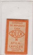 DUX, CUCHILLO DE REPUESTO IMPOIRTACION ALEMANA. RARE RAZOR BLADE LAME DE RAISOR HOJA DE AFEITAR. CIRCA 1930s - BLEUP - Lames De Rasoir