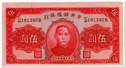 CHINA,5 YUAN,1940,P.J10,XF - China