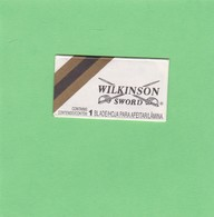 WILKINSON SWORD. GILLETTE BRASIL. CIRCA 1940'S. RAZOR BLADE LAME DE RAISOR HOJA DE AFEITAR - BLEUP - Scheermesjes