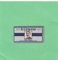 HOJA AZUL GILLETTE. INDUSTRIA ARGENTINA. CIRCA 1940'S. RAZOR BLADE LAME DE RAISOR HOJA DE AFEITAR - BLEUP - Lames De Rasoir