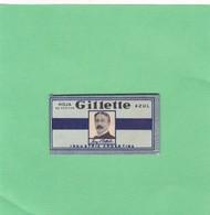 HOJA AZUL GILLETTE. INDUSTRIA ARGENTINA. CIRCA 1940'S. RAZOR BLADE LAME DE RAISOR HOJA DE AFEITAR - BLEUP - Scheermesjes