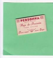 PERSONNA, FINA COMO UNA JOYA. INDUSTRIA ARGENTINA. CIRCA 1940'S. RAZOR BLADE LAME DE RAISOR HOJA DE AFEITAR - BLEUP - Lames De Rasoir
