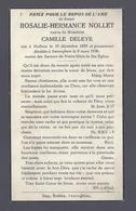 DOODSPRENTJE NOLLET DELEYE ° HALLUIN 1855 + ZWEVEGEM 1936 - Images Religieuses