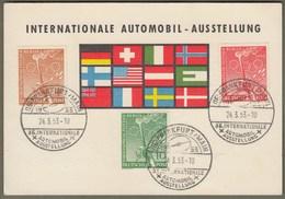 """Berlin: Sonderkarte, Mi.-Nr. 88-90 SST: """" Automobil-Ausstellung, Frankfurt A./M. 1953 """"     X - Usati"""