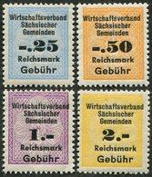 Germany 1946 SBZ Soviet Occupation Zone Saxony Sachsen Sächsischer Gemeinden MNH Local Revenue Fiscal Tax Gebührenmarke - Soviet Zone