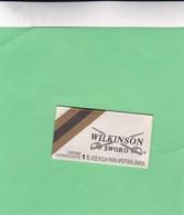 WILKINSON SWORD. GILLETTE. BRASIL- CIRCA 1940'S. RAZOR BLADE LAME DE RAISOR HOJA DE AFEITAR - BLEUP - Scheermesjes