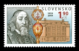 Slovakia 2019 Mih. 877 Comenius University In Bratislava. Pedagogue John Amos Comenius MNH ** - Slovakia