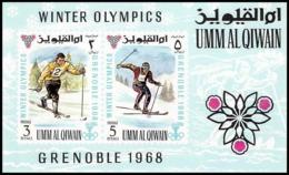 159 - Umm Al Qiwain MNH ** Bloc N° 12 Jeux Olympiques (winter Olympic Games) Grenoble 1968 Ski Skiing - Winter 1968: Grenoble