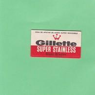 GILLETTE SUPER STAINLESS STEEL BLADES. INDUSTRIA ARGEN- CIRCA 1940'S. RAZOR BLADE LAME DE RAISOR HOJA DE AFEITAR - BLEUP - Lames De Rasoir
