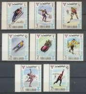 160 - Umm Al Qiwain MNH ** N° 233 / 240 A Jeux Olympiques (winter Olympic Games) Grenoble 1968 Bob Hockey Skating - Winter 1968: Grenoble