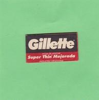 GILLETTE SUPER THIN MEJORADA. INDUSTRIA ARGEN- CIRCA 1940'S. RAZOR BLADE LAME DE RAISOR HOJA DE AFEITAR - BLEUP - Scheermesjes