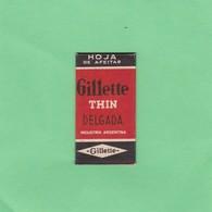 GILLETTE SUPER THIN DELGADA. INDUSTRIA ARGEN- CIRCA 1940'S. RAZOR BLADE LAME DE RAISOR HOJA DE AFEITAR - BLEUP - Scheermesjes