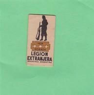 LEGION EXTRANGERA. INDUSTRIA ARGENTINA- CIRCA 1940'S. RAZOR BLADE LAME DE RAISOR HOJA DE AFEITAR - BLEUP - Lames De Rasoir
