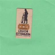 LEGION EXTRANGERA. INDUSTRIA ARGENTINA- CIRCA 1940'S. RAZOR BLADE LAME DE RAISOR HOJA DE AFEITAR - BLEUP - Scheermesjes