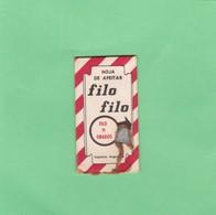 FILO FILO, INDUSTRIA ARGENTINA- CIRCA 1940'S. RAZOR BLADE LAME DE RAISOR HOJA DE AFEITAR - BLEUP - Scheermesjes