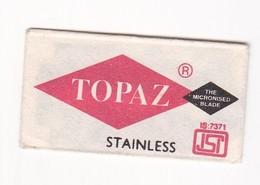 TOPAZ STAINLESS, MADE IN INDIA- CIRCA 1940'S. RAZOR BLADE LAME DE RAISOR HOJA DE AFEITAR - BLEUP - Scheermesjes