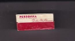PERSONNA. PAQUETE 10 HOJAS INDUSTRIA ARGENTINA- CIRCA 1940'S. RAZOR BLADE LAME DE RAISOR HOJA DE AFEITAR - BLEUP - Scheermesjes