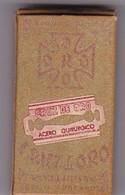 CRUZ DE ORO ACER. PAQUETE 10 HOJAS INDUSTRIA ARGENTINA- CIRCA 1940'S. RAZOR BLADE LAME DE RAISOR HOJA DE AFEITAR - BLEUP - Lames De Rasoir