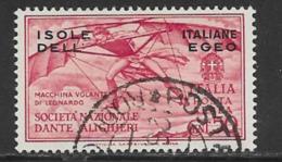 Italian Aegean Scott # C8 Used Italy Dante Issue Overprinted, 1932 - Aegean