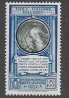 Italian Aegean Scott # C14 Mint Hinged Da Vinci, 1932, CV$21.00 - Ägäis