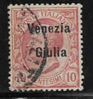 Italy Austrian Occupation Scott # N23 Used Italy 1906 Stamp Overprinted Venezia Giulia, 1918 - 8. WW I Occupation