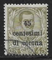 Italy Austrian Occupation Scott # N71 Used Italy 1901 Stamp Overprinted, 1919 - 8. WW I Occupation