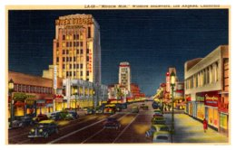 California Los Angeles , Wilshire Boulevard , Miracle Mile At Night - Los Angeles