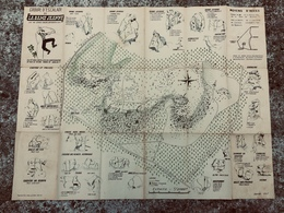 Plan Carte De LA DAME JEANNE Par Gérard Chacun ( Larchant Fontainebleau ) Escalade Alpinisme Année 1947 - Cartes