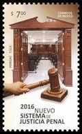 2016 MÉXICO Sistema De Justicia Penal, MALLETE,  New Criminal Justice System, MNH GAVEL, DOORS - Messico