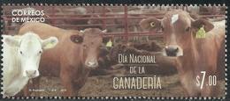 2016  MÉXICO Día Nacional De La Ganaderia  COW-CATTLE-CORRAL, NATIONAL DAY OF LIVESTOCK Stamp MNH - Messico