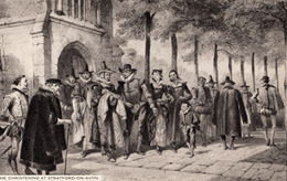 Shakespeare - Christening At Stratford-on-Avon - Drawing By Cattermole - Raphael Tuck & Sons - VG Condition - 2 Scans - Tuck, Raphael