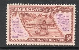 1948 TOKELAU ISLANDS ½d Brown Mint Hinged Michel Cat No. 1 - Tokelau