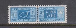 Italy PP 100 1955-79 Parcel Post 700 Lire Azur,mint  Never Hinged - 6. 1946-.. Republic