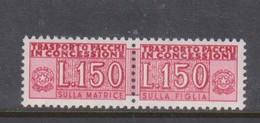 Italy PPD 16 1955-81  Parcel Post Authorized Delivery Stamps,150 Lire,mint Never Hinged - 1946-.. République